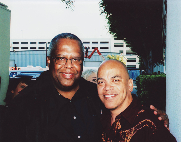 Fred Irby, III and Ricky Minor at CBS-TV studio in Los Angeles, October, 2007