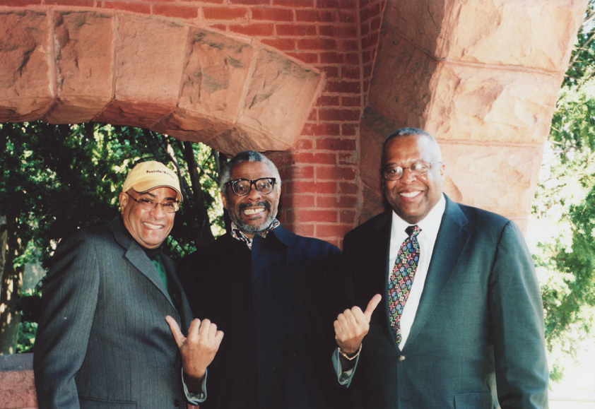 Jimmy Owens, Andrew White and Professor Fred Irby, III, March, 2008