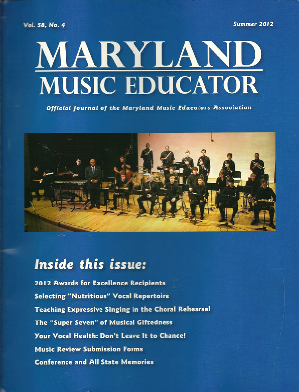 The 2012 Maryland All State Jazz Band