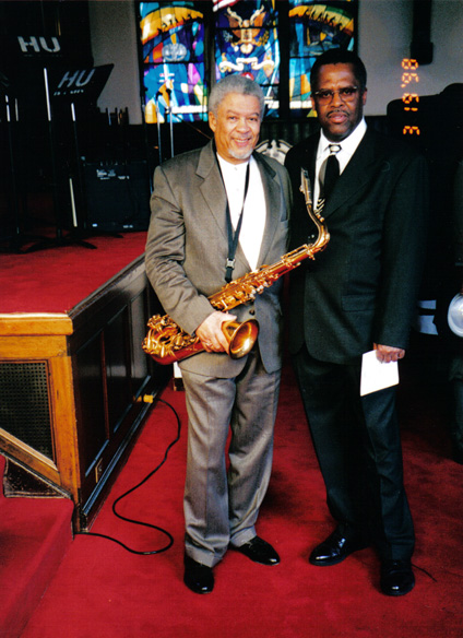 Jazz great Frank Foster and Fred Irby, III - 1998