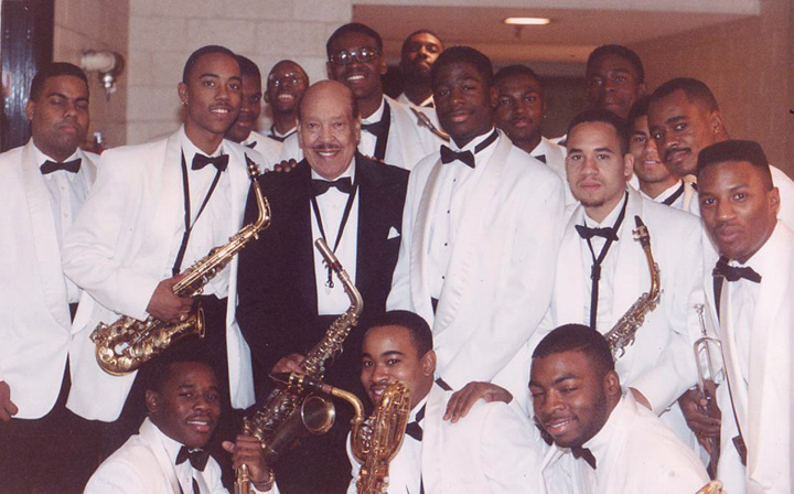 Members of HUJE with the great Marshall Royal