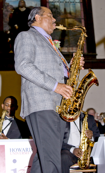 HU Alumnus, Jazz Icon and Guest soloist, saxophonist Benny Golson