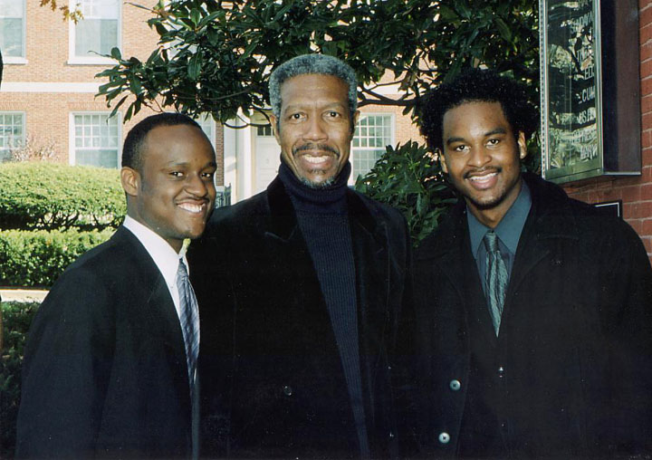 Isaiah Jolley, Billy Harper and Noble Levi Jolley, Jr. after a HUJE concert - 2004