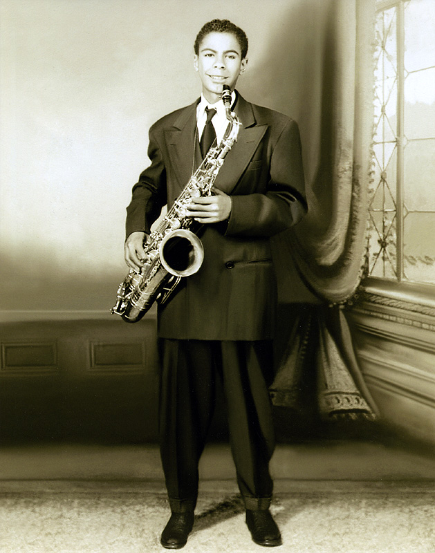 Saxophonist Benny Golson, ca. 1944 (at the age of 15 years)