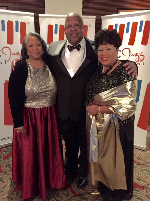 Martha Ann Irby, Fred Irby, III & Jacquelyn Ann Irby at the DC Jazz Festival Trustees Gala