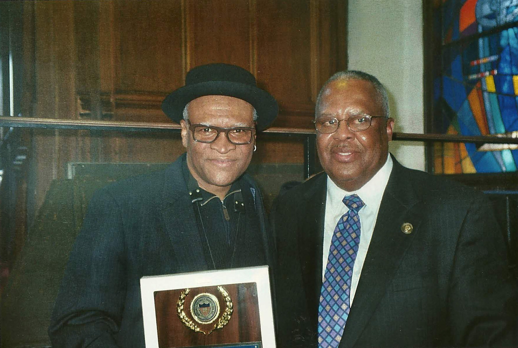 Saxophonist Bobby Watson and professor Fred Irby, III on March 7, 2013