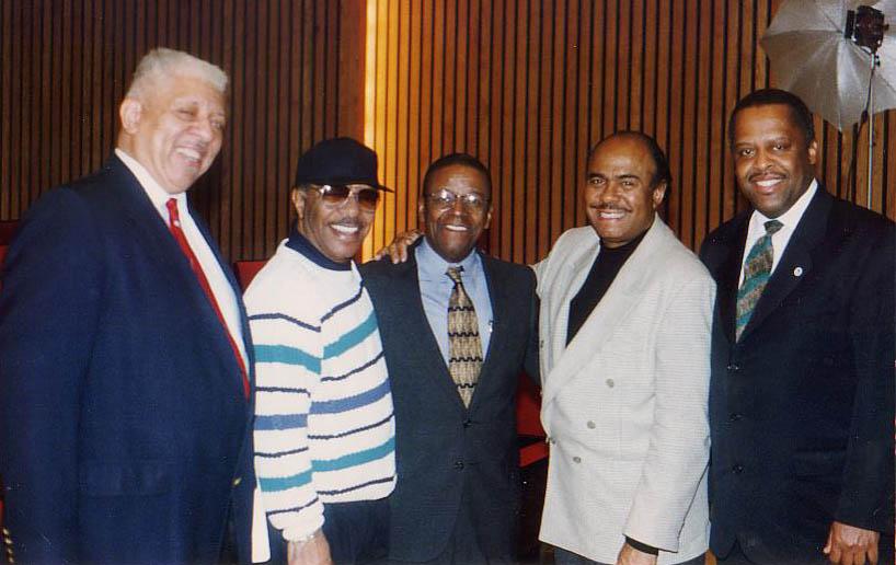Dr. Reppard Stone, Grady Tate, Dr. Arthur Dawkins, Benny Golson and Fred Irby, III - 1996
