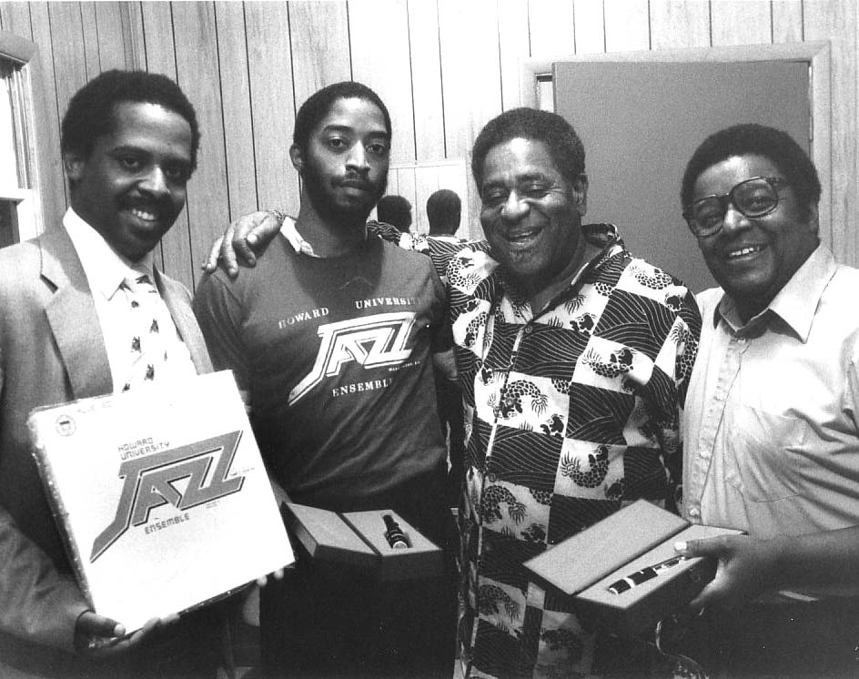 Fred Irby, III, Larry Seals, Dizzy Gillespie and Dr. Arthur Dawkins - 1981
