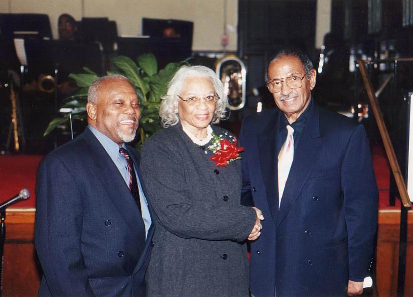 Marcus Belgrave, Dr. Doris E. McGinty and Congressman John Conyers