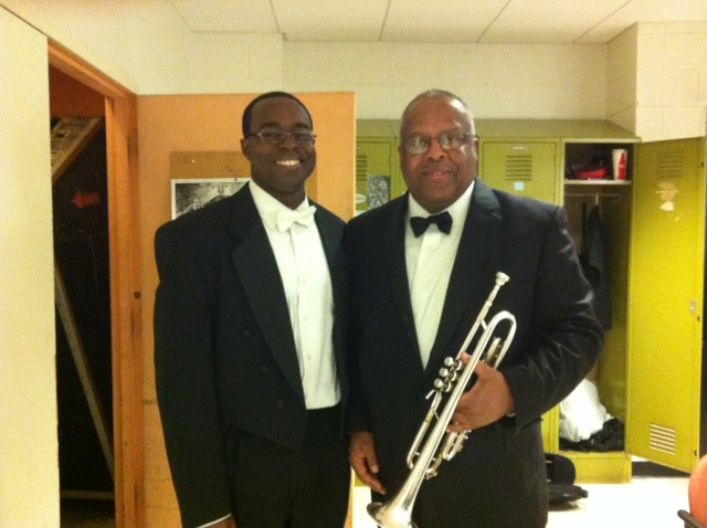 Professor Fred Irby, III and Jauvon Gilliam