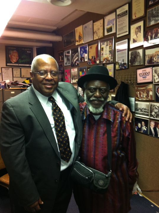 Professor Fred Irby, III and the legendary saxophonist Pharoah Sanders
