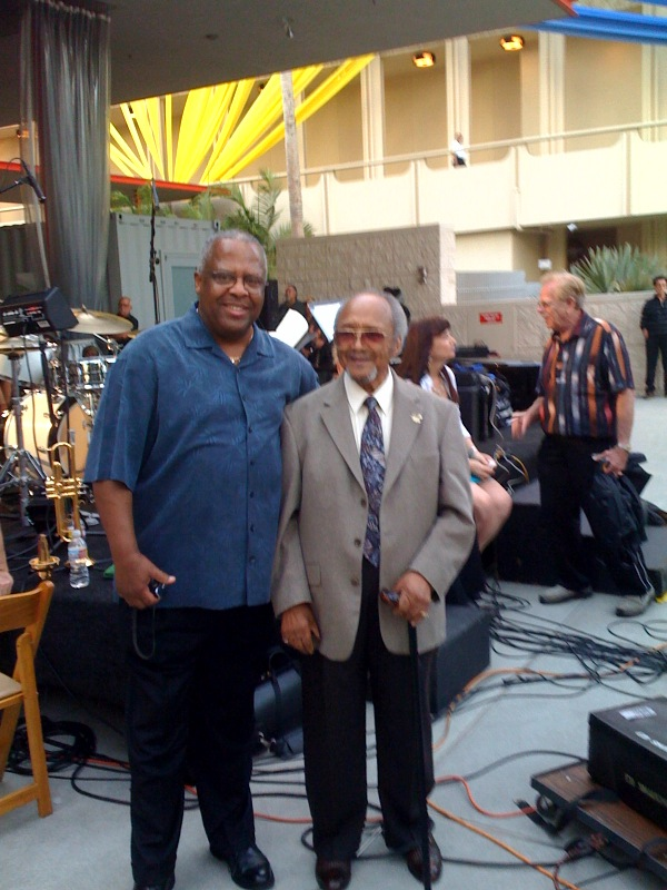 Fred Irby,III with the legendary trumpeter Snooky Young