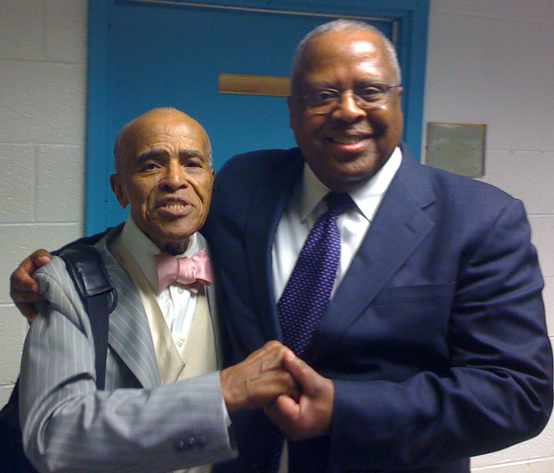 Legendary Jazz Vocalist Jon Hendricks and professor Fred Irby, III