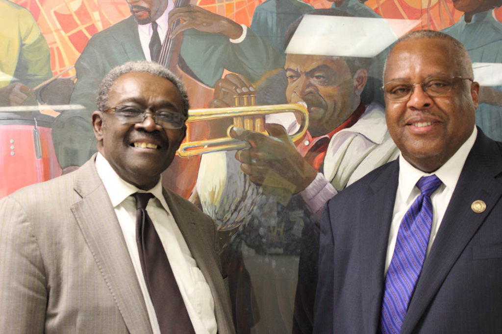 Legendary pianist Larry Willis and professor Fred Irby,III