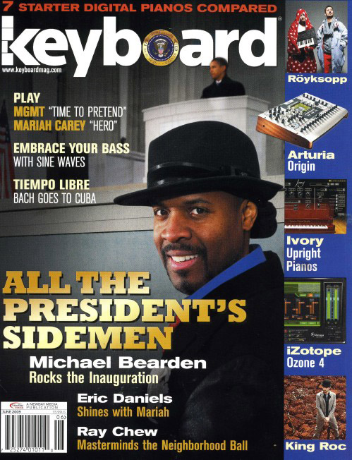 Michael Bearden, HUJE Alumni on the cover of Keyboard Magazine, June, 2009