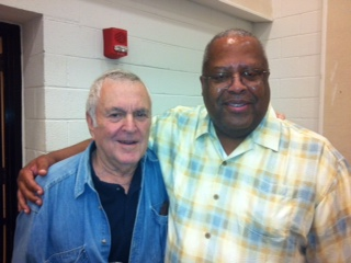Prof. Irby at the Kennedy Center on June 5, 2005 with the legendary Broadway composer John Kander